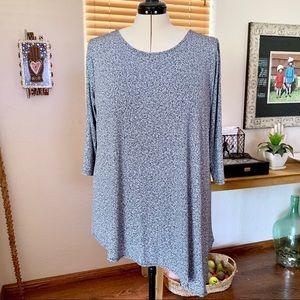 Black & white speckle print Alfani tunic top